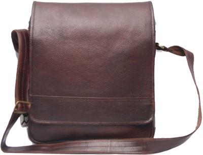 C Comfort Men, Women Casual Brown Genuine Leather Sling Bag