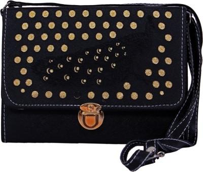 zasmina Girls Black Leatherette Sling Bag