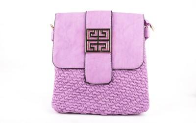 Russo Fashion Girls Casual Pink PU Sling Bag