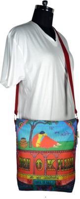 Authentic Women Multicolor Cotton Sling Bag