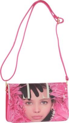 abrazo Girls, Women Pink PU Sling Bag