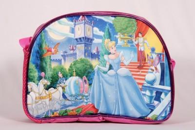 Pink Lotus Girls Pink PU Sling Bag