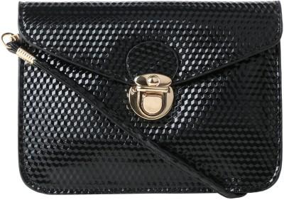 Satchel Bags Women Black PU Sling Bag