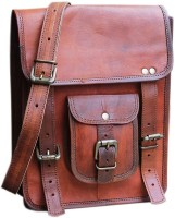 Pranjals House Boys & Girls Brown Genuine Leather Messenger Bag