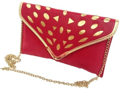 Craftbazaar Women Evening/Party Maroon Leatherette Sling Bag
