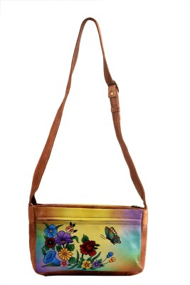 Balona Women, Girls Casual, Evening/Party Multicolor Genuine Leather Sling Bag