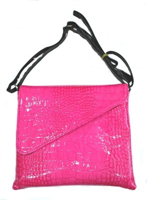 Shimmer Trends Girls, Women Casual, Festive, Formal, Evening/Party Pink PU Sling Bag