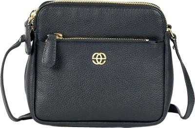 Eske Girls Black Genuine Leather Sling Bag