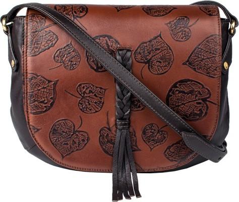 hot-selling real pretty nice shop best sellers Hidesign Women Tan, Brown Genuine Leather Sling Bag