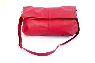 Modish Women Casual, Evening/Party Maroon Genuine Leather Sling Bag