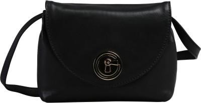 ILEX London Women Formal Black Genuine Leather Sling Bag