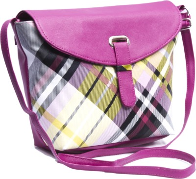 Voaka Girls, Women Pink, Multicolor Leatherette Sling Bag