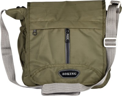 Aoking Men, Boys, Women, Girls Casual Green Nylon Sling Bag