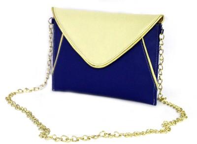 Shore Women Casual Blue PU Sling Bag