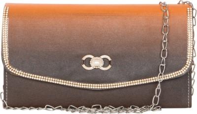 MTE Girls Orange Leatherette Sling Bag