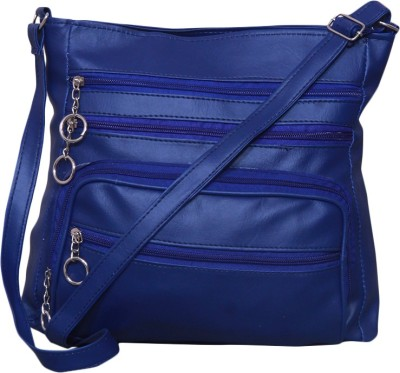 Notbad Girls Blue Leatherette Sling Bag