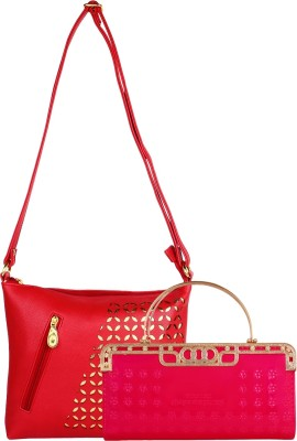 Supreme Culture Girls, Women Red PU Sling Bag