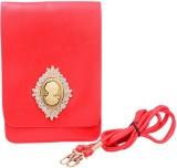 Shopaholic Fashion Women Red PU Sling Ba...