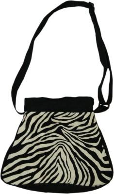 Benicia Women Casual Black Cotton Sling Bag