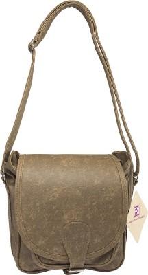 Fashion Knockout Girls Brown PU Sling Bag