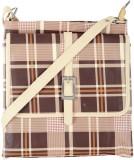 Dernier Cri Women Brown PU Sling Bag