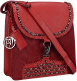 Phive Rivers Women Red Genuine Leather S...
