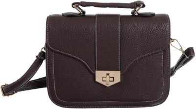 Peaubella Girls, Women Brown Leatherette Sling Bag
