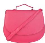 Skyways Women Pink Leatherette Sling Bag