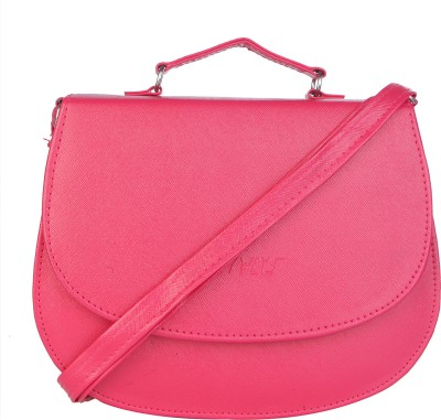 SkyWays Girls, Women Pink Leatherette Sling Bag