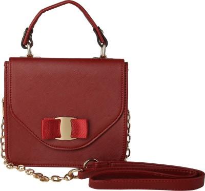 ToniQ Girls, Women Maroon PU Sling Bag