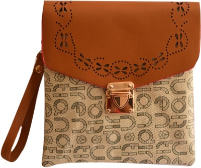 Basta Girls Tan PU Sling Bag