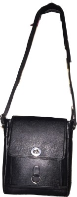 Apnav Boys Black Leatherette Sling Bag