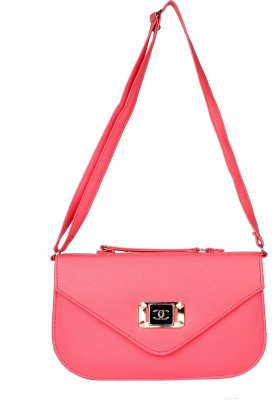 PST Girls, Women Pink PU Sling Bag