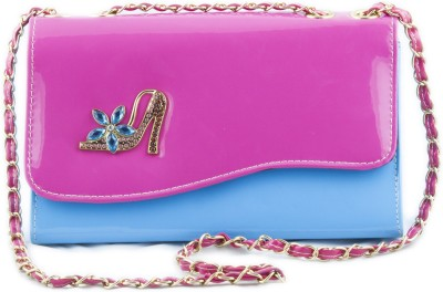 Voaka Women, Girls Pink Leatherette Sling Bag