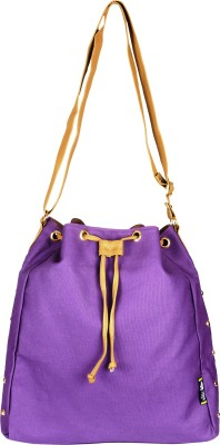 Kanvas Katha Girls, Women Purple Canvas Sling Bag