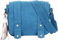 Risa Women Blue Genuine Leather Sling Bag