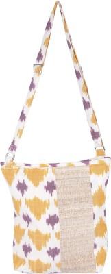Rope International Women Casual Beige, Yellow Cotton Sling Bag