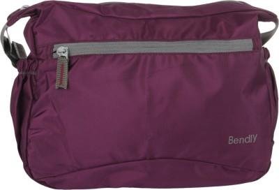 Bendly Women, Men Casual Purple Polyester Sling Bag