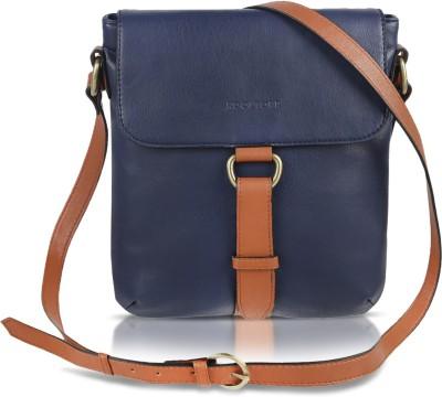 Kooltopp Girls, Women Blue, Tan Leatherette Sling Bag