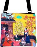 Eco Corner Women Yellow Cotton Sling Bag