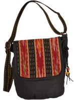 Indian Rain Women Casual Black Canvas Sling Bag