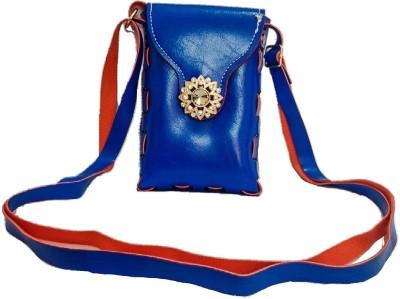 Bagzmania Women, Girls Evening/Party, Festive, Formal, Casual Blue, Red Leatherette Sling Bag