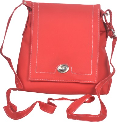 Freddys Men, Women Casual Red PU Sling Bag