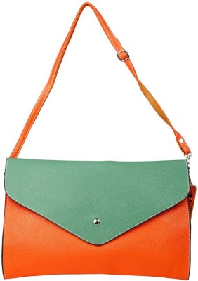 Just Women Women Casual Red, Green Leatherette Sling Bag