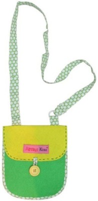 Always Kids Girls Casual, Evening/Party Yellow, Green Felt Sling Bag