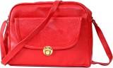 Splice Girls Red PU Sling Bag