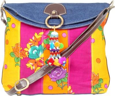 Stylocus Women Multicolor Denim Sling Bag