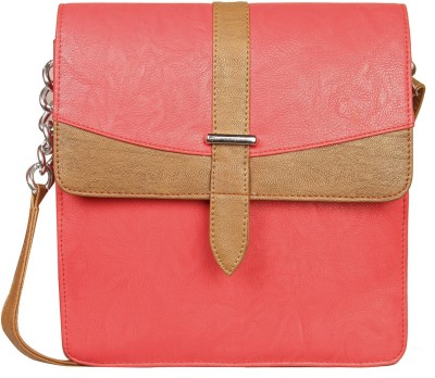 Louise Belgium Girls Red Leatherette Sling Bag