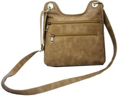 Nappastore Women, Girls Casual, Formal Tan Leatherette Sling Bag