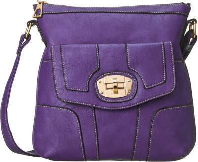 Cappuccino Women Casual Purple Leatherette Sling Bag